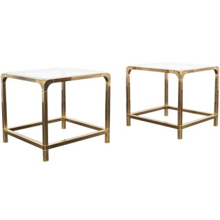 Vintage Brass Side Tables by Mastercraft For Sale