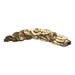 Italian 19th Century Baroque Filament Fragment Gold Gilt 19th Century 25 Inches Hand Carved. For Sale