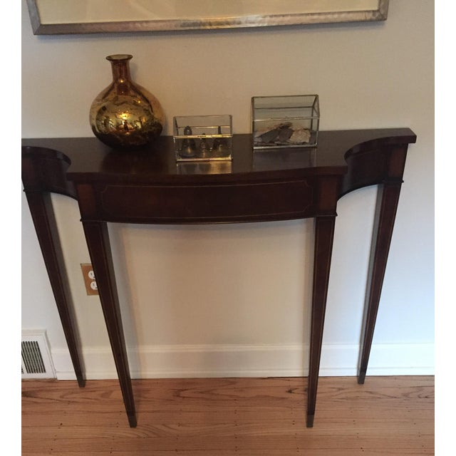 Vintage Demi Lune Console Table - Image 6 of 8