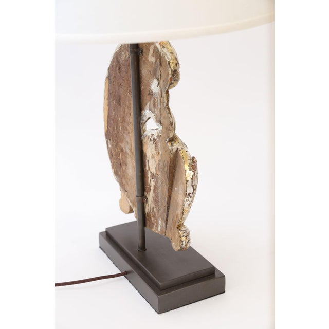 2010s Silver Gilt Custom Lamp For Sale - Image 5 of 9