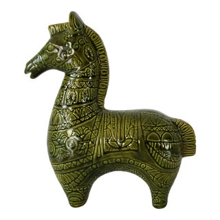 Vintage Handmade Ceramic Horse Figurine , Signed . For Sale
