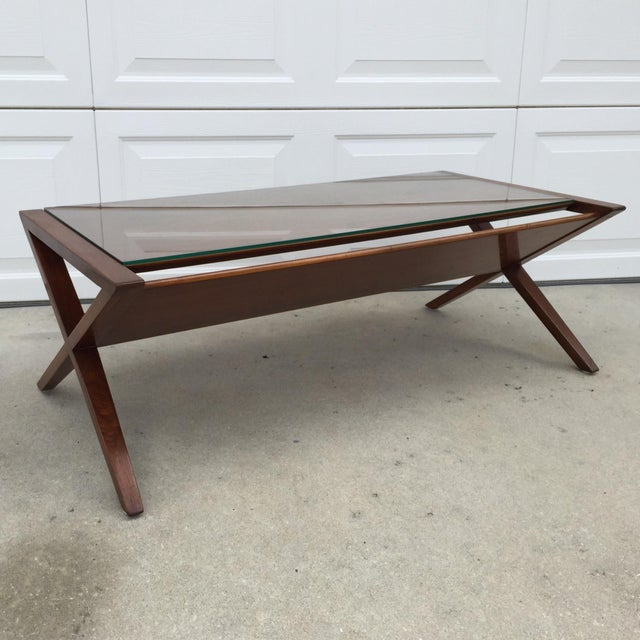 John Van Koert Walnut Coffee Table - Image 4 of 11