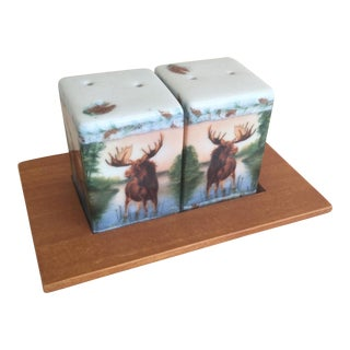 Vintage Americana Moose Salt & Pepper - A Pair
