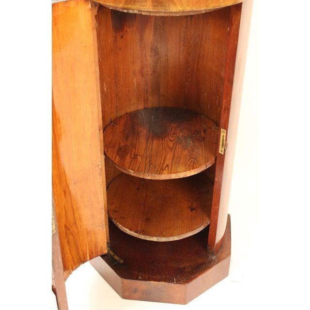 Wood 19th Century Napoleon III Flame Mahogany Cylinder Cupboard For Sale - Image 7 of 13