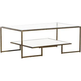 Beaumont Brass Tone Coffee Table