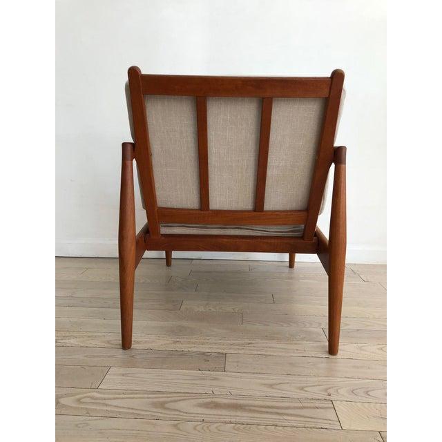 1955 Mid-Century Modern Kai Kristiansen Teak Paper Knife Easy Chair For Sale - Image 10 of 13