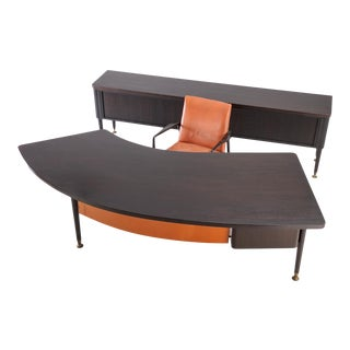 1950s Mid-Century Modern Stow Davis Executive Desk Set For Sale