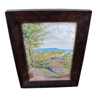 Impressionist Painting in a Antique Arts & Crafts Frame For Sale