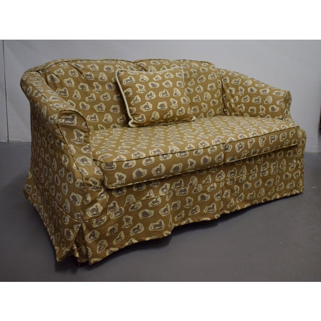 Cowtan & Tout Safari Upholstered Sofa w Pillow - Image 8 of 9