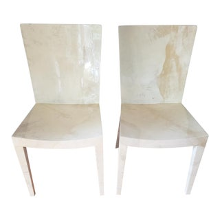 1980s Vintage Karl Springer Jmf Chairs- A Pair For Sale
