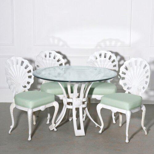 Brown Jordon Shell Back Grotto Patio Dining Set For Sale - Image 13 of 13