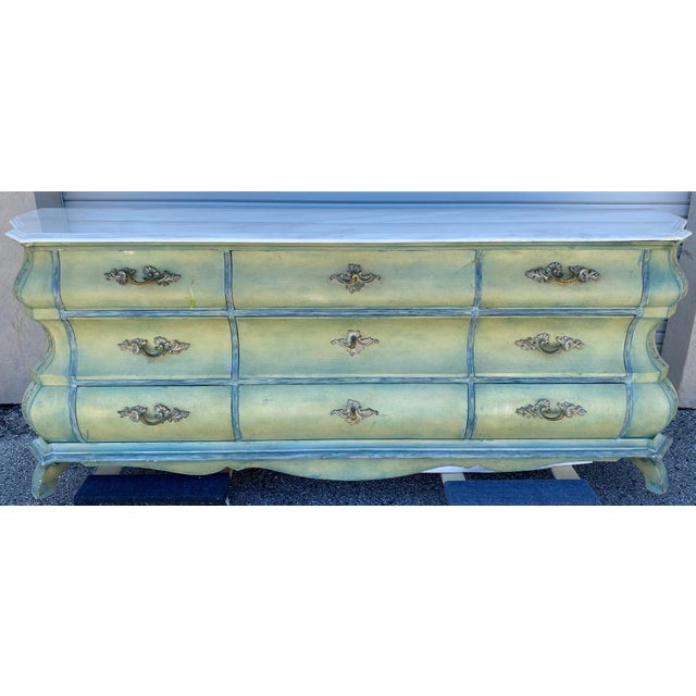 Maslow Freen New York Design Marble Top Dresser & Mirror For Sale - Image 4 of 13