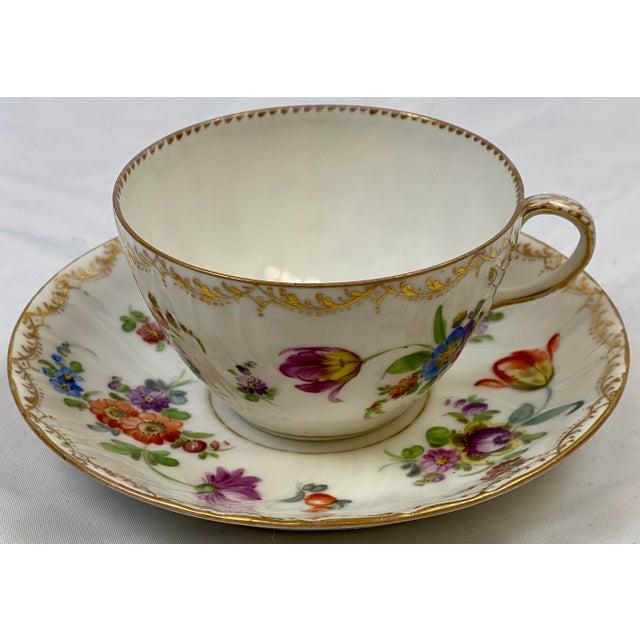 Antique 19th Century Richard Klemm Dresden Porcelain Demitasse Cup & Saucer For Sale - Image 10 of 10