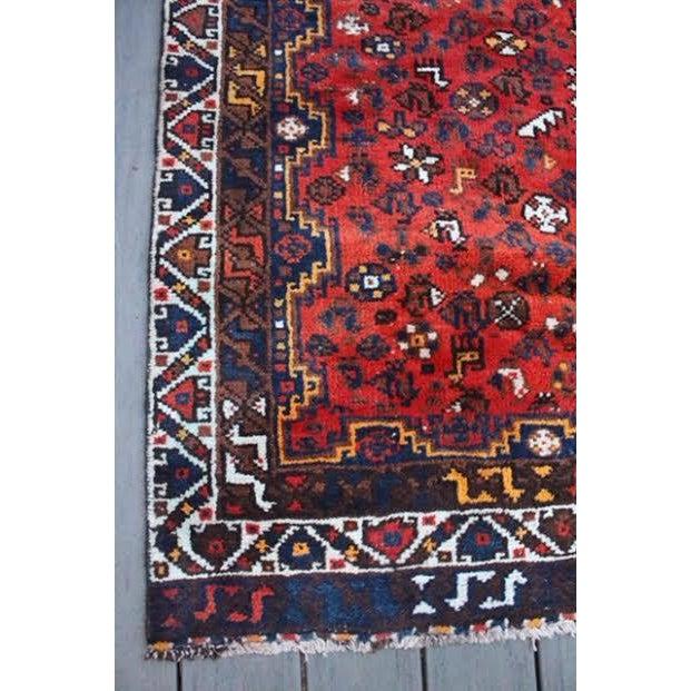 "Vintage Persian Shiraz Rug - 6' X 9'2"" - Image 7 of 9"