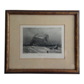 "Birkett Foster ""The Bass Rock"" Metal Plate Engraving For Sale"