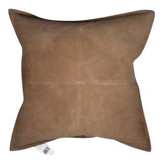 Ralph Lauren-Leeds-Brown Leather Pillow-Down Insert