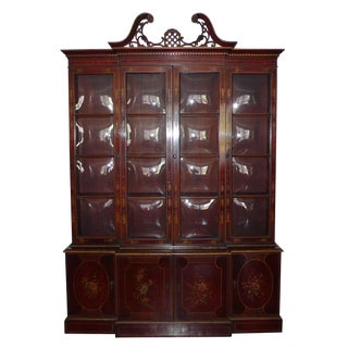 Union National Chinoiserie Mahogany Breakfront For Sale