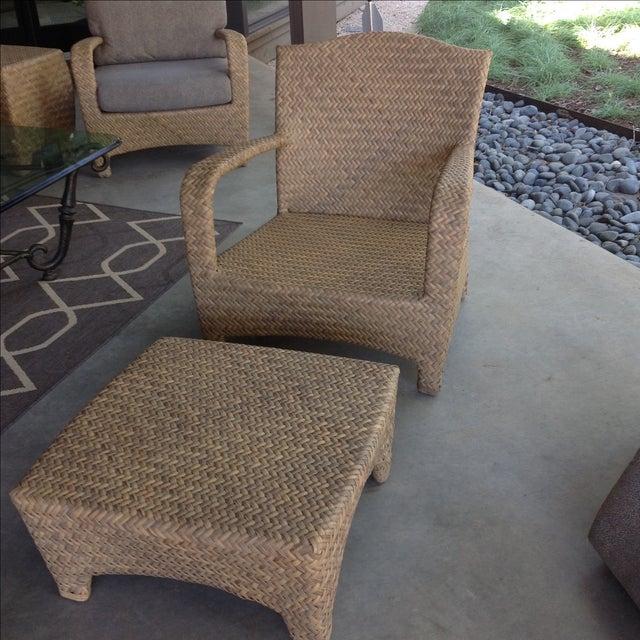Brown Jordan Havana Outdoor Lounge Chair & Ottoman For Sale - Image 5 of 10