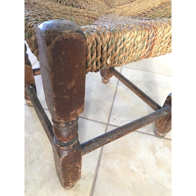 Rustic Rush Woven Small Foot Stool - Image 6 of 6