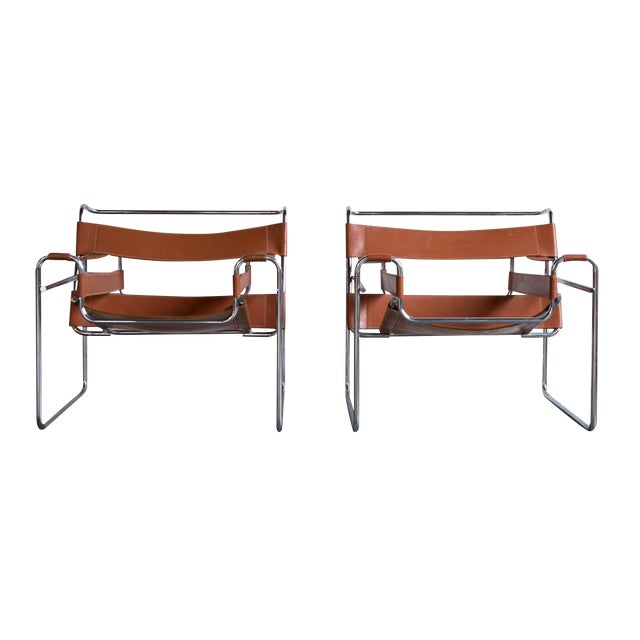 Wassily Marcel Breuer for Knoll Chairs - a Pair - Image 1 of 11