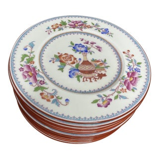 Antique Cauldon Staffordshire Plates - Set of 12 For Sale