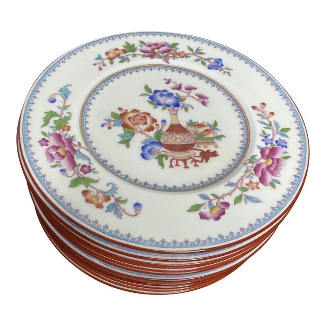 Antique Cauldon Staffordshire Plates - Set of 12 For Sale