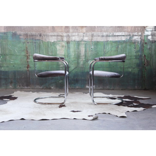 Mid Century Modern Vintage Original SS33 Arm Chairs by Iconic Italian Designer Anton Lorenz for Thonet c 1930-1940s and...