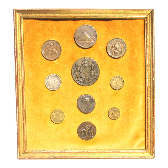 Medallion and Coin Framed Collection For Sale
