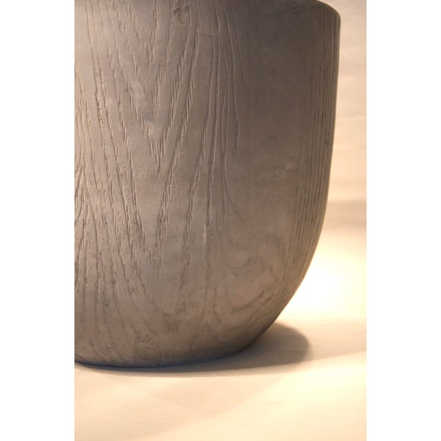 Gray Faux Wood Planter - Image 4 of 4