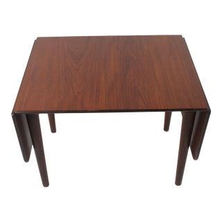 Vintage Johannes Hansen Rosewood Dropleaf Coffee Table For Sale