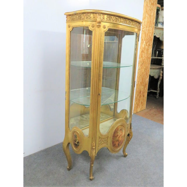French Vernis Martin French Curio Cabinet For Sale - Image 3 of 10
