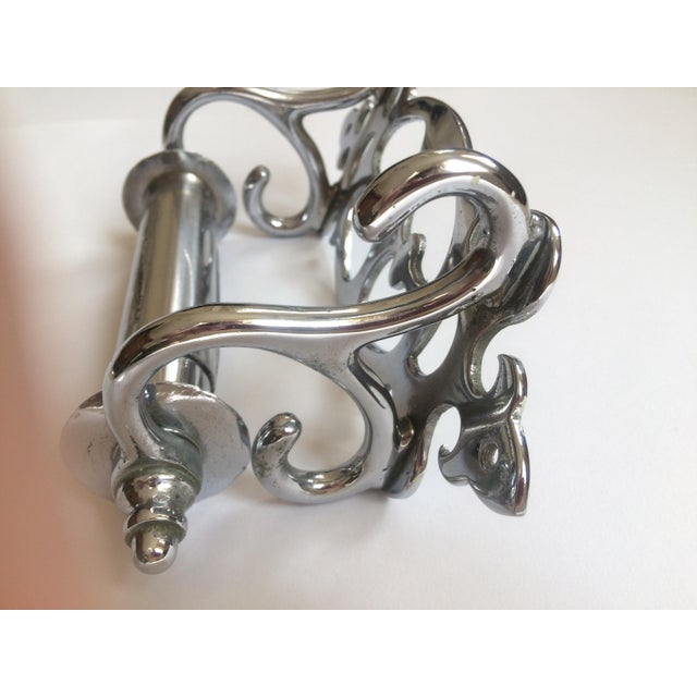 Victorian Nickel-Clad Late Victorian Tissue Paper Holder For Sale - Image 3 of 5