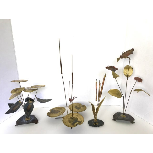 Vintage Botanical Brass Sculptures - Set of 4 - Image 2 of 7