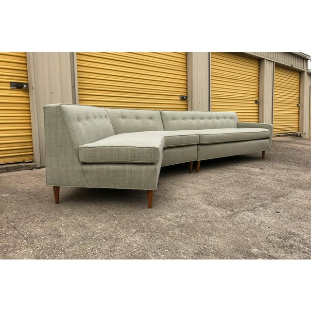 Marden Manufacturing Inc. Marden Mid-Century Sectional Sofa - 2 Pieces For Sale - Image 4 of 11