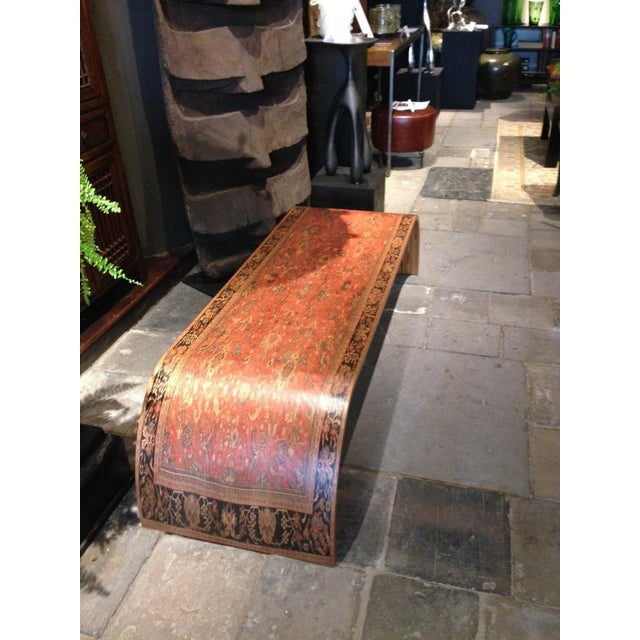 Lamou Persian Rug Printed Wood Coffee Table - Image 5 of 7