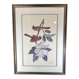Image of John Ruthven 1960s Pencil Signed Limited Edition Cardinals Framed Lithograph For Sale