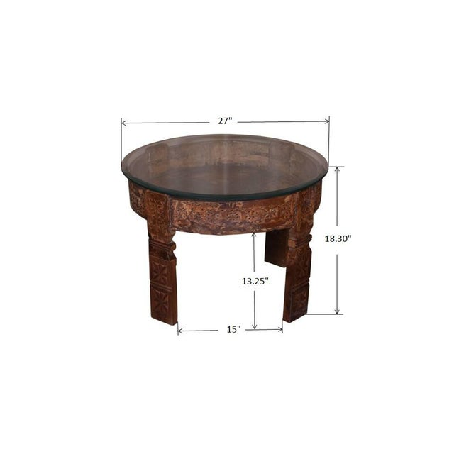 2010s Madilynn Glass Top Coffee Table For Sale - Image 5 of 5