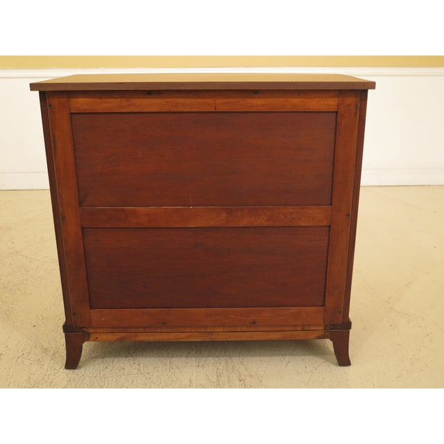1960s Federal Biggs Inlaid Mahogany 4 Drawer Bow Front Chest For Sale - Image 10 of 13