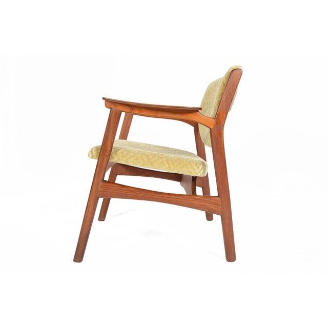 Danish Modern Rosewood & Mohair Armchair - Image 3 of 10
