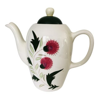 "Midcentury Stangl Pottery ""Thistle"" Teapot For Sale"