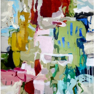 """Original Mixed Media Abstract Painting by Gina Cochran """"She's Subtle, Like a Jet Plane"""" For Sale"""