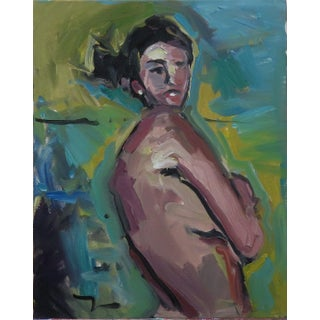 Jose Trujillo Original Portrait Abstract Expressionism Nude Figure Woman Oil Painting For Sale