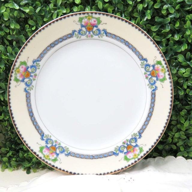 Cottage Vintage Mismatched Fine China Luncheon Plates - Set of 4 For Sale - Image 3 of 8