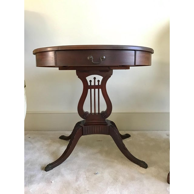 Made in 1943, this Kimball Harp table is solid Mahogony. This piece is craftsmanship at its finest. Table was made by the...