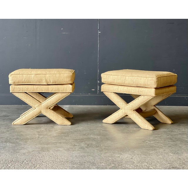 These stools are the real deal! Well made, sturdy and great texture! Such a great way to add in another layer to a room!