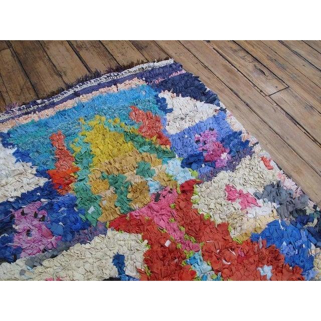 "Islamic Moroccan ""Boucherouite"" Rug For Sale - Image 3 of 9"