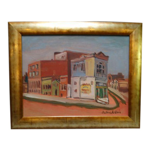 "1940 Anders Aldrin ""Island City"" Alameda Painting - Image 1 of 6"
