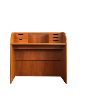1960s Poul Hundevad Teak Roll Top Desk For Sale