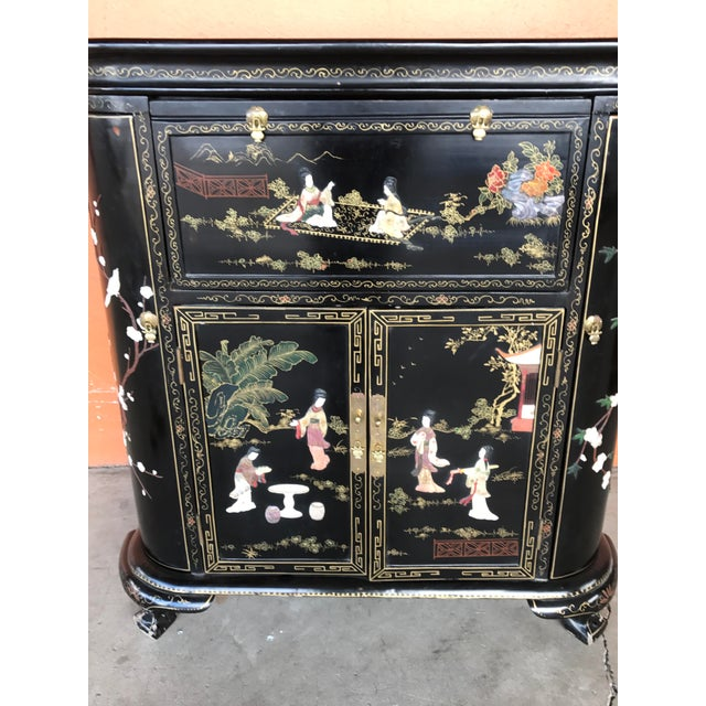 Lacquer and Inlay Hardstone Chinese Dry Bar For Sale - Image 5 of 8