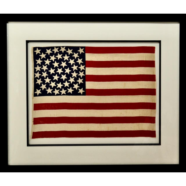 Late 19th Century Antique 45 Star American Flag W/ Star Pattern For Sale - Image 5 of 5